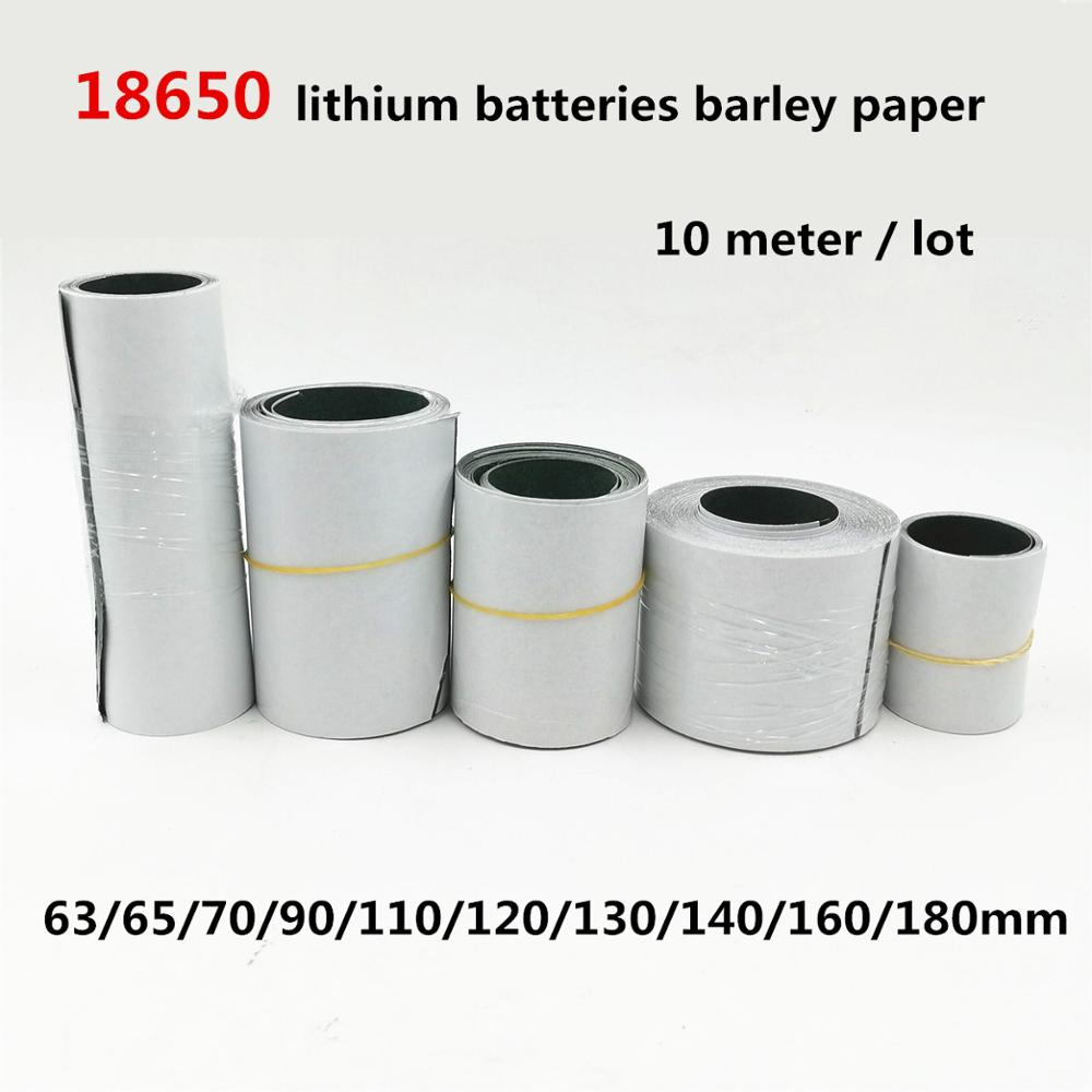 10 meter 18650 Li-ion Battery Insulation Gasket Barley Paper Pack Cell Insulating Glue Patch Electrode Insulated Pads 0 2mm