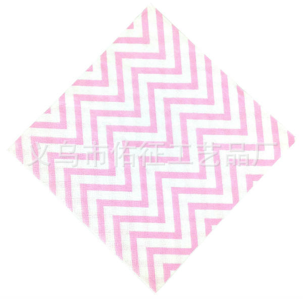 Chevron Paper Napkins Party Paper Towel Colored Napkin Wave Pattern Paper Towel Pink