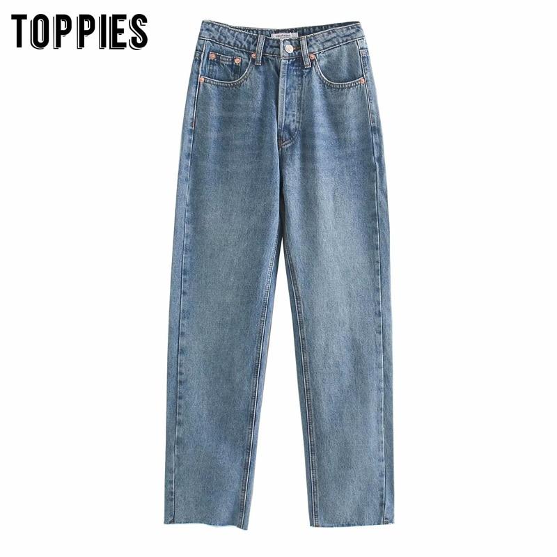 White Black Ripped Jeans For Women Summer Denim Straigh Patns Ankle Length Mom Jeans Tassel Bottom Streetwear