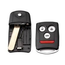3 + 1 botones Flip remoto carcasa de control remoto de coche caso w/hoja sin cortar para Honda/acuerdo/Acura TL TSX MDX RDX ZDX 2007, 2008 de 2009 de carcasa de llave