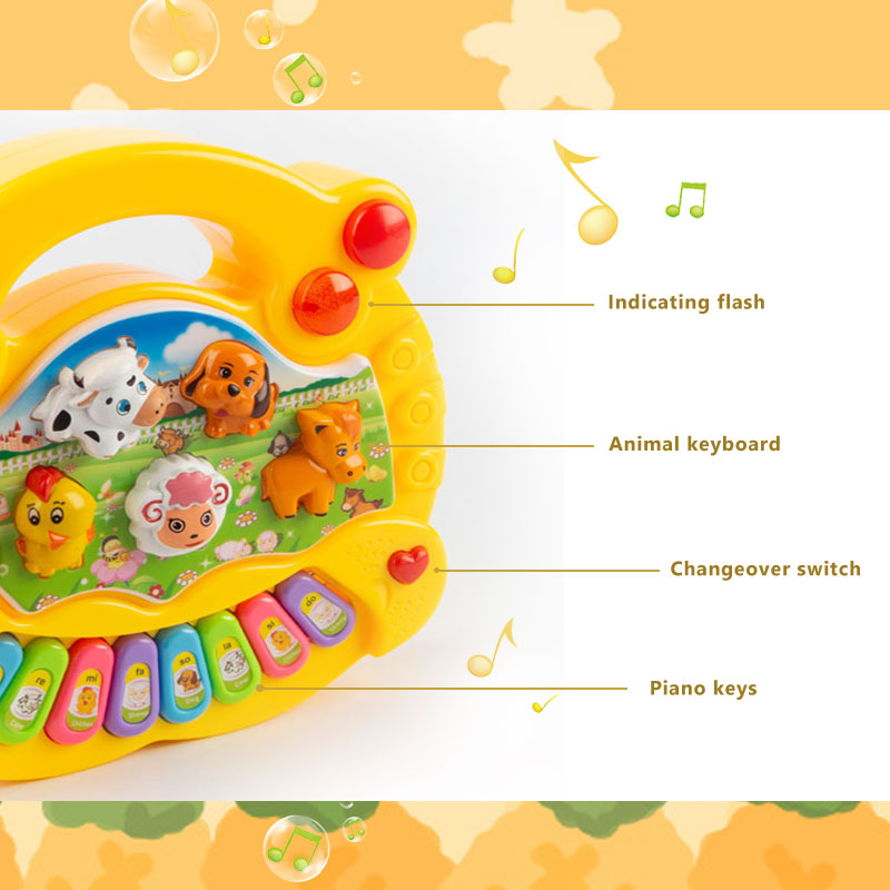 Children's Animal Farm Piano Music Toy eEducational Electronic Organ Baby Playing Instrument Recognition Ability Gifts 5