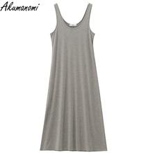 oversize tank cotton long summer dresses women plus size maxi dress for women Casual