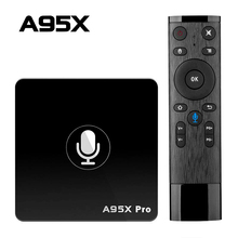 Google TV Box A95X Pro 2G 16G Thông Minh Android 7.1 TV Hộp Điều Khiển Giọng Nói Amlogic S905W WiFi LAN phương Tiện Truyền Thông Người Chơi PK X96mini X96 Mini
