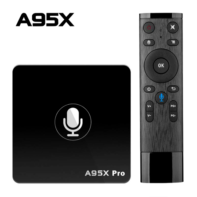 Google TV Box A95X Pro 2G 16G intelligent Android 7.1 TV Box commande vocale Amlogic S905W WiFi LAN lecteur multimédia PK X96mini X96 Mini
