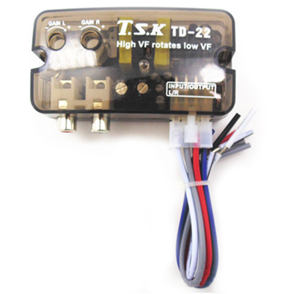 12V Car Stereo High to Low with High Frequency Switch Delay Function Car Stereo Amplifier Subwoofer Low Frequency Converter