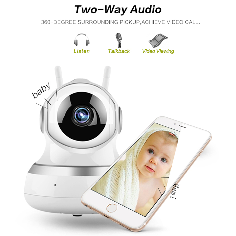 Baby Monitor Wireless Smart Audio CCTV Camera 1080P Home Security IP Cameras Network Surveillance Camera WiFi Baby Camera Wi Fi