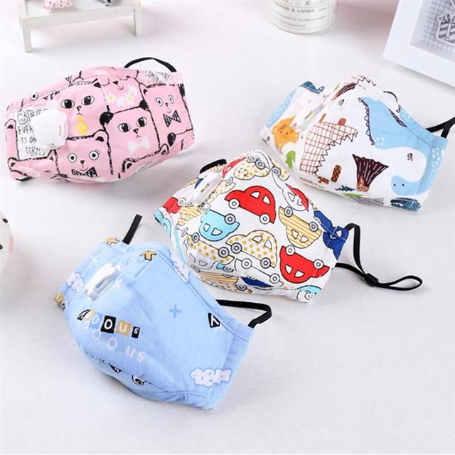 3pcs/set Kids Cartoon Printing Mouth Masks Dustproof Washable PM2.5 Filter Mask Mouth Cover With Filter Pad Clothing Accessories 1