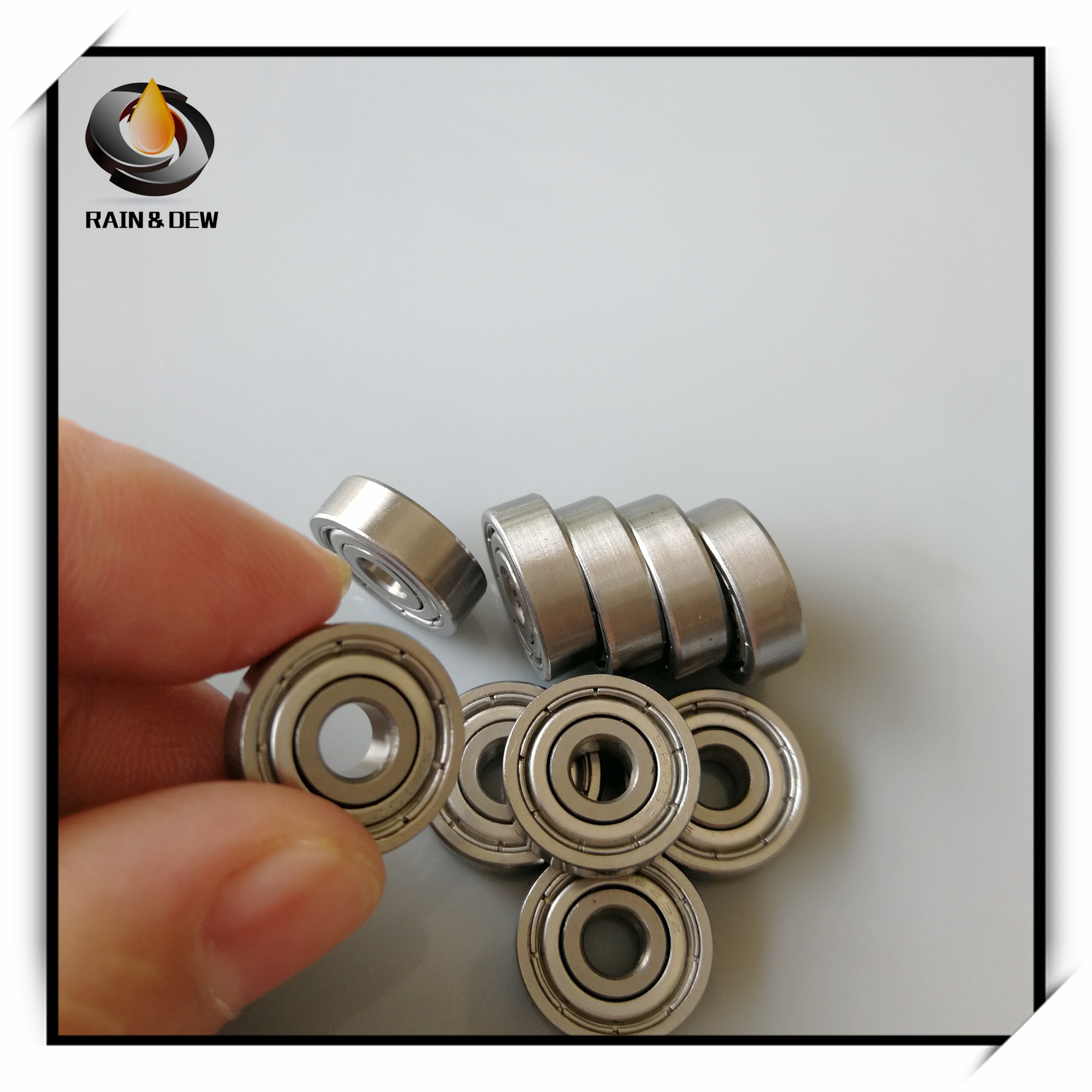 10Pcs S625ZZ Stainless Steel <font><b>Bearing</b></font> <font><b>5*16*5</b></font> mm ABEC-7 S625Z S625 Z ZZ Ball <font><b>Bearings</b></font> 3D parts image