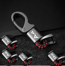 New car trinket/Zinc Alloy Universal quality keychains For audi A3 A4 A5 A6 A7 Q2 Q3 Q5 Q7 Q8 car keychain With Logo Key ring