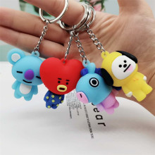 Keychain Kpop Bts-Bangtan Boys Band Member Personalized Cute Cartoon Keychains For Women Men Jewelry Key Chain Bag Car Pendant(China)