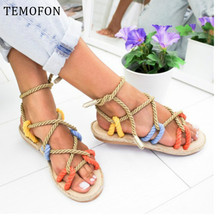 TEMOFON ladies flat sandals women flat casual shoes
