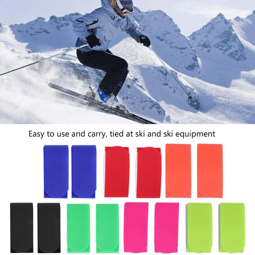 1Pair Ski Snowboard Bag Carrier Nylon Hook And Loop Strap Supports Ski Snowboard Cross Country Snowboarding Bag Holder Accessory