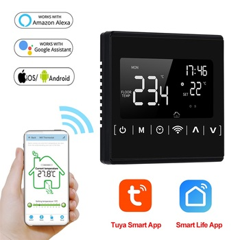 110V 120V 230V All Touch Screen Temperature Controller Thermoregulator Black Back Light Electric Heating Room Thermostat WiFi 2