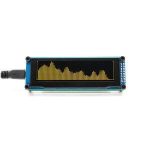 Image 2 - Aiyima oled 음악 오디오 스펙트럼 표시기 분석기 15 레벨 uv 미터 mp3 mp4 mp5 전화 속도 조정 가능한 agc usb dc5v for amp