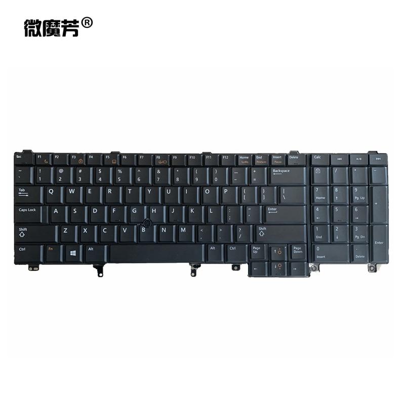 US NEW Laptop Keyboard For DELL E6520 E5520 M4600 M6600 E5530 E6530 M4700 M6700 E6540 English
