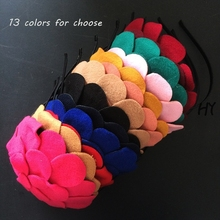 1 Pcs/lot Girls New Boutique Big Floral Kids Hairband Lovely Headbands For Hair Accessories
