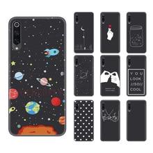 Candy Black Soft Cases For Xiaomi Mi A3 CC9 E 9T 9 SE 8 Lite 5X 6X A1 A2 Redmi K20 6 Pro 7A 7 6A Note 5 Cover