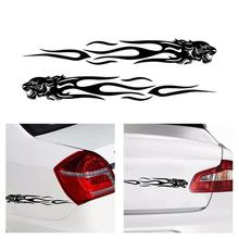 2Pcs Tiger Flame Totem Car Decals Stickers Reflective 22cm Motorcycles Sticker Decoration Creative Fashion Styling