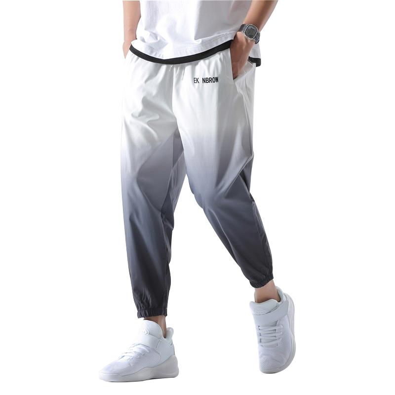 2021 New Hip Hop Streetwear Joggers Pants Men Casual Cargo Pant Trousers High Street Elastic Waist Gradient Color Harem Pant Man