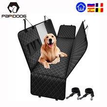 Cão capa de assento do carro para pequeno grande portador do cão à prova dwaterproof água pet transporte traseiro back seat protector esteira hammock almofada