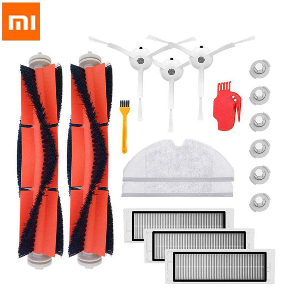 18PCS Mi Roborock Vacuum Cleaner Parts Replacement For Mi Robot Roborock S50 S51 Roborock 2 Vacuum Cleaner Accessory Kit