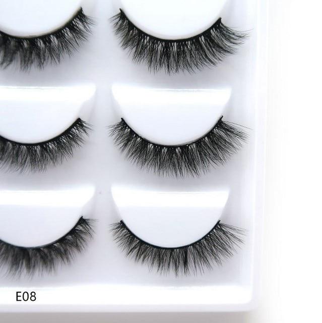 5 pairs natural false eyelashes fake lashes long makeup 3d mink lashes eyelash extension mink eyelashes for beauty 3