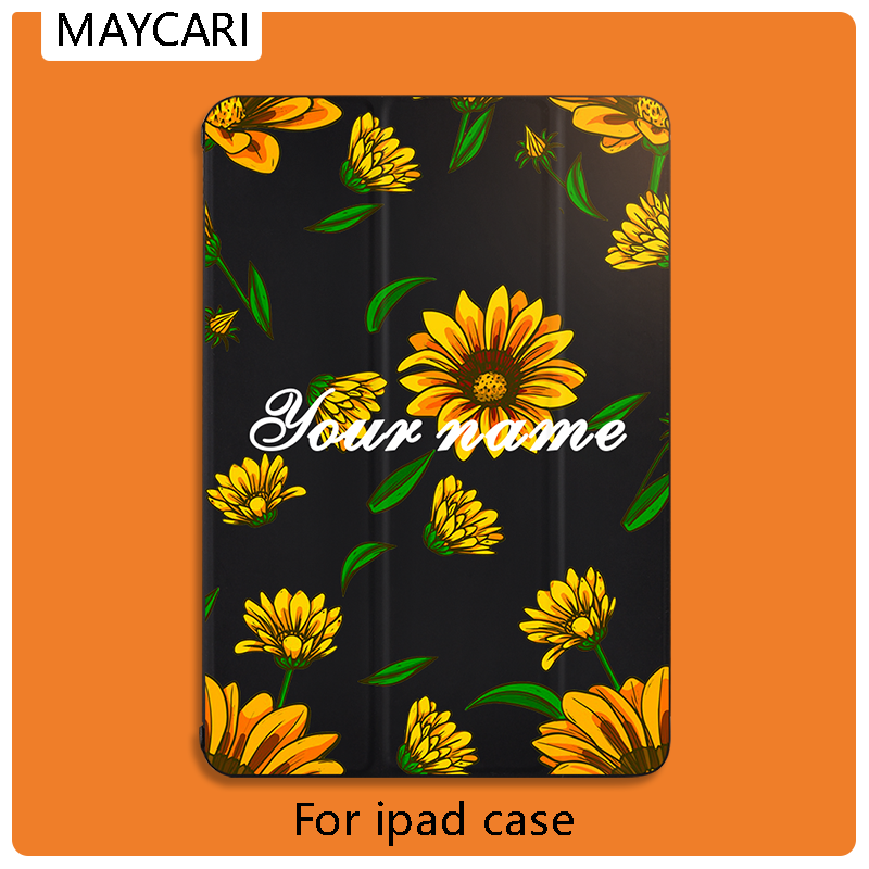 DIY For <font><b>iPad</b></font> Pro 11 <font><b>Case</b></font> Cute Sunflower For Magnetic Ultra Slim Smart Cover Custom For <font><b>iPad</b></font> 11 inch <font><b>Case</b></font> Support Wireless Charge image