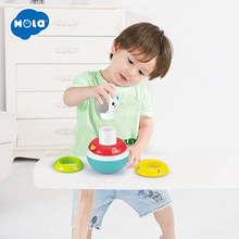 HOLA 3136 Baby Rattles Mobile Doll Bell Blink Eyes Tumbler Roly-poly Silicon Teether Toy Fun For Newborns Gift(China)