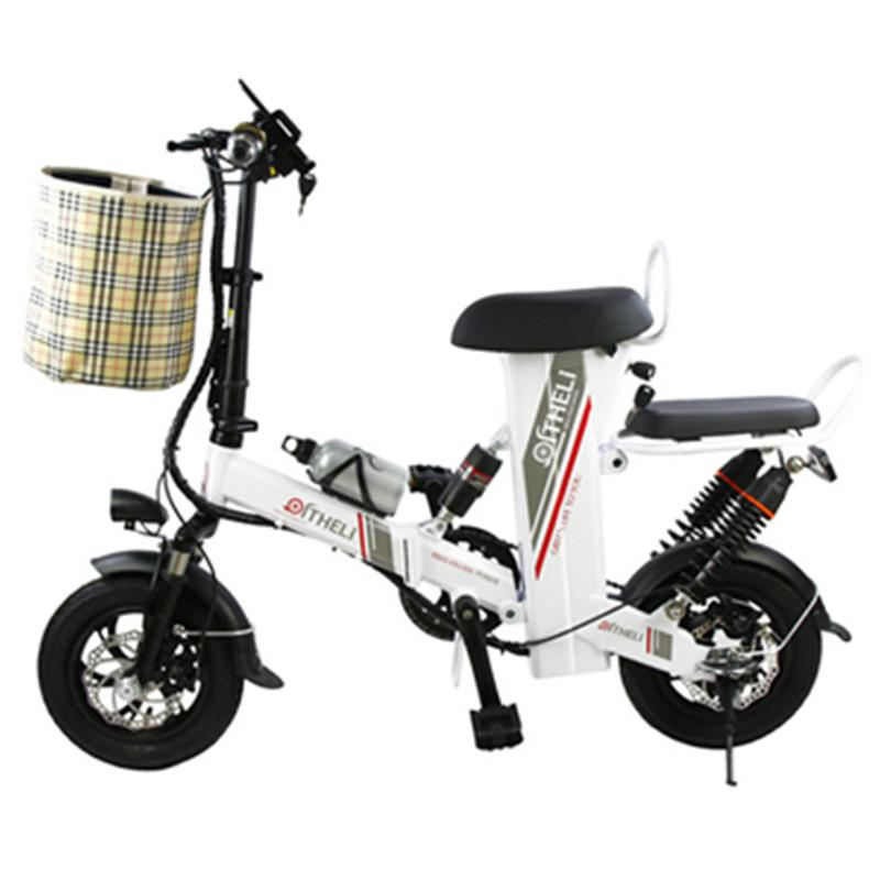 Mini Folding Electric Bicycle 12 Inch 400W 48V 10AH/15AH/20AH/25AH Electric Scooter Adults With Double Seat