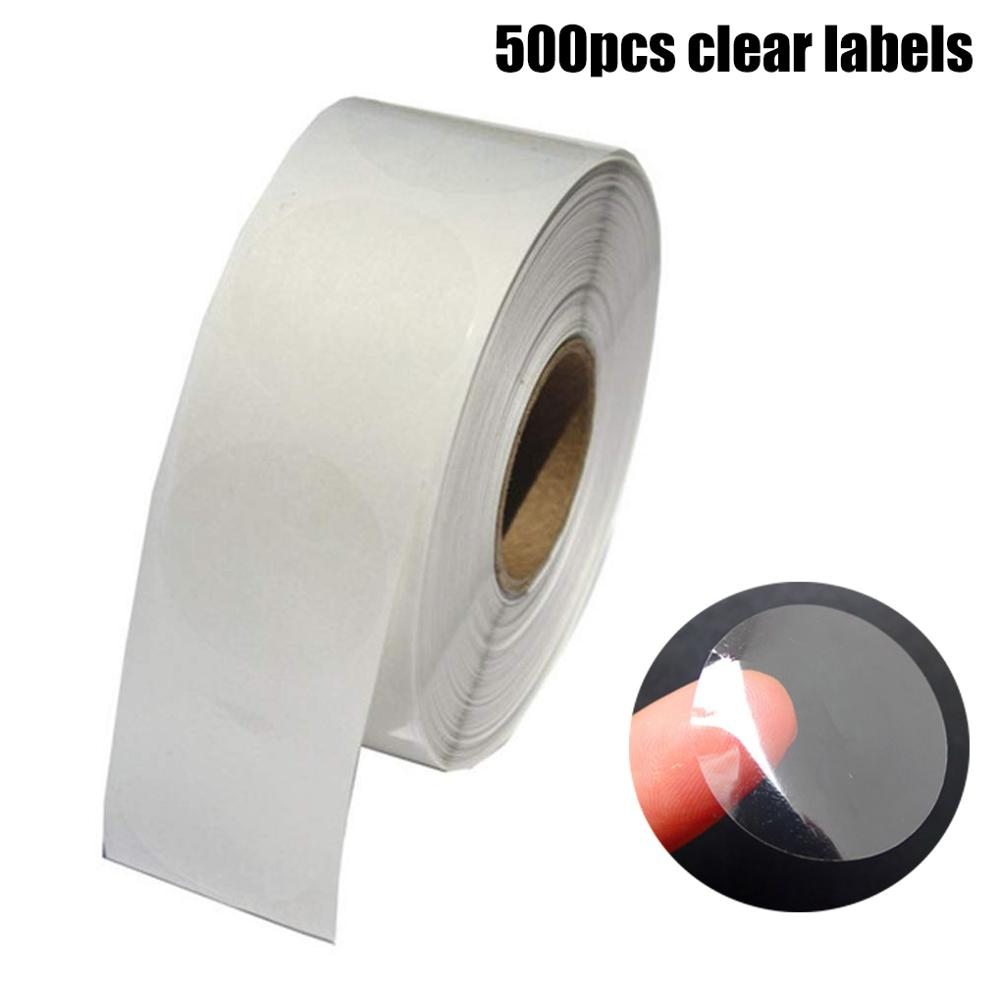 500pcs/roll Round Pvc Clear Sticker Scrapbooking For Package And Evenlope Seal Labels Transparent Stickers Waterproof Adhesive