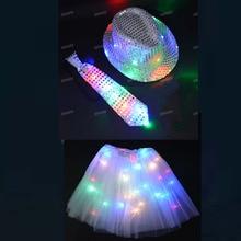 Cap Parade Rave Party Concert Led-Light-Up Flashing Christmas Glow Halloween Wedding