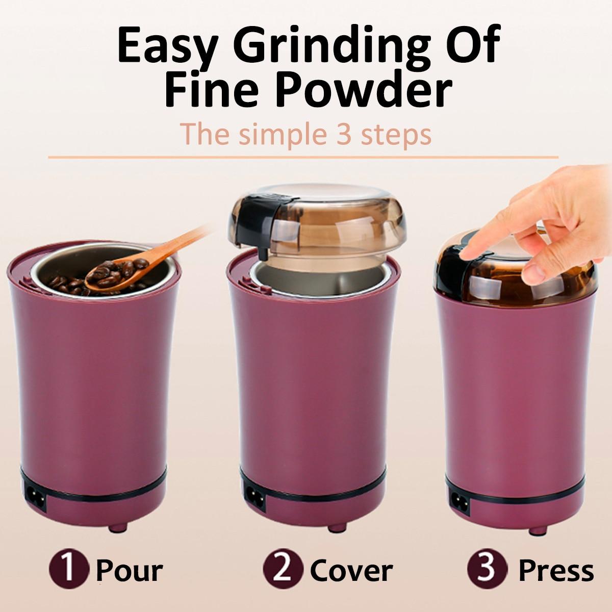 800 Вт мини кухонный измельчитель соли и перца электрическая кофемолка мощные бобы специи орех семян кофе в зернах мельница для измельчения ...