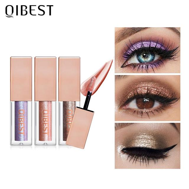 QIBEST 15 Colors Eyeshadow Stick Shining Makeup Glitter Pigment Waterproof Eye Shadow Stick Smoky Liquid Eye Shadow Cosmetics 2