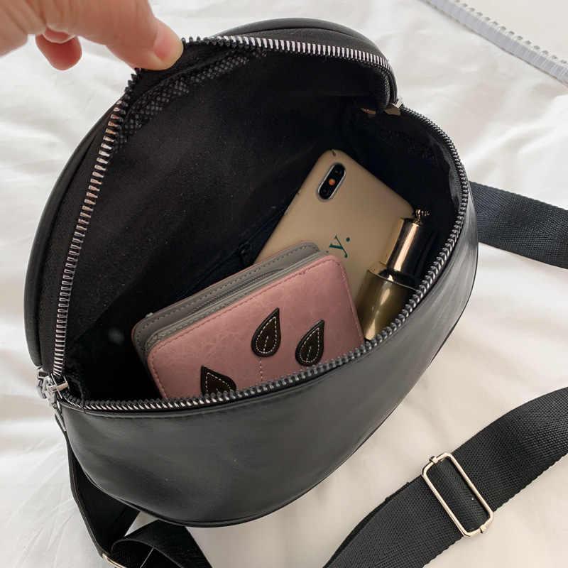 Retro PU Kulit Tas Selempang untuk Wanita Sederhana Tas Bahu Kasual Messenger Packbag Olahraga Fanny Pack Crossbody Dompet Paket