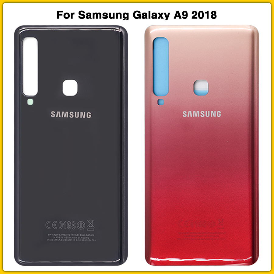 New A9 2018 Housing Case For Samsung Galaxy A9 2018 Star Pro A9S A920 A920F Battery Back Cover Door Rear Cover Glass Repair Part