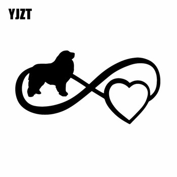 YJZT 16.9X8.6CM Dog Boxer Great Pyrenees Vinyl Decal Window Bumper Car Sticker Decor Black/Silver C24-1173 image
