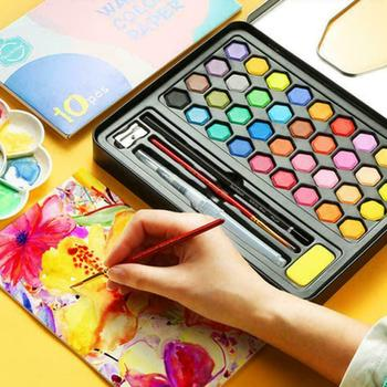36 Colors Watercolor Pigment Set Hand-painted Painting Supplies for Art Students Artist Drawing Tools Sets NEW