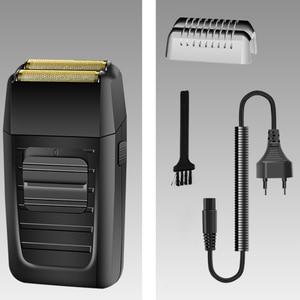 Image 5 - 強力な充電式シェーバーシェイパー理容箔電気シェーバー無精ひげシェービング電気かみそり理髪店用仕上げツール