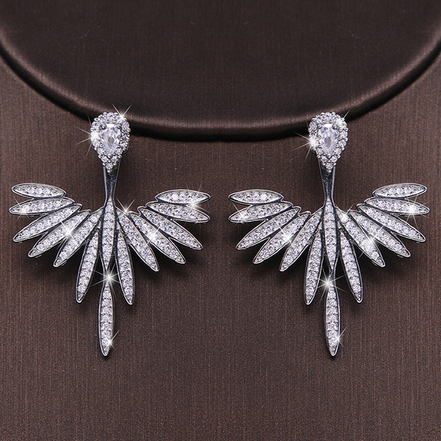 Luxury Trendy Marquise Flower  Pave Crystal Drop Earring  2