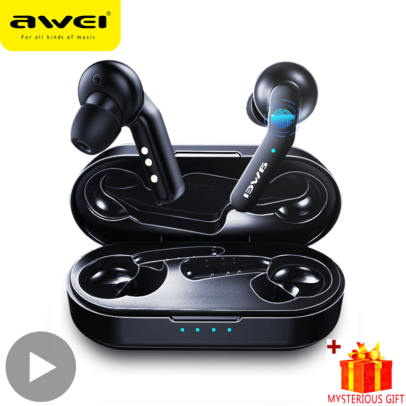 Awei T10C Handsfree Bluetooth Earphone Headset True Wireless <font><b>TWS</b></font> Headphone 5.0 Earbuds For In Ear Buds Phone Mobile Blutooth HD image