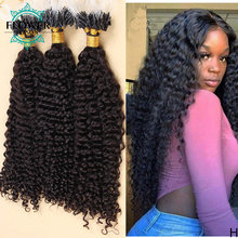 Micro Loop Hair Extensions Brazilian Remy Human Hair Kinky Curly 100Strands Human Hair Micro Ring Hair Flowerseason