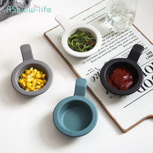 Nordic Style Creative Mini Dish Of Household Ceramic Sauce Dip Soy Snack Restaurant Round  Solid Tableware Supplies