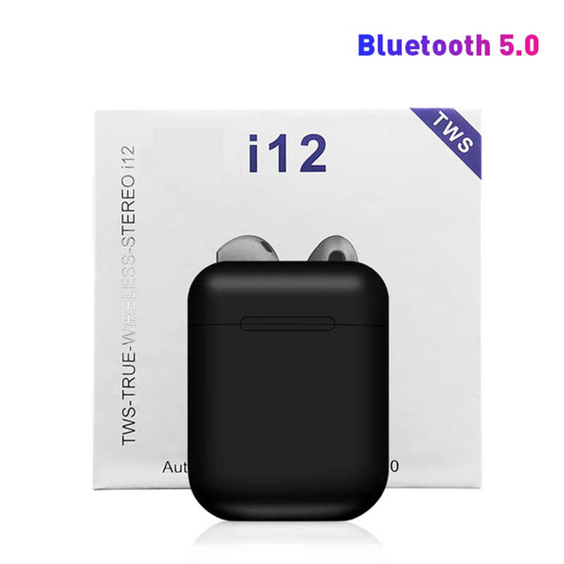 Drop Shipping 2019 nowy i12 TWS i7s Bluetooth 5.0 słuchawki bezprzewodowe Pop-up zestaw słuchawkowy 3D Stereo super bas minisłuchawki i 12 tws