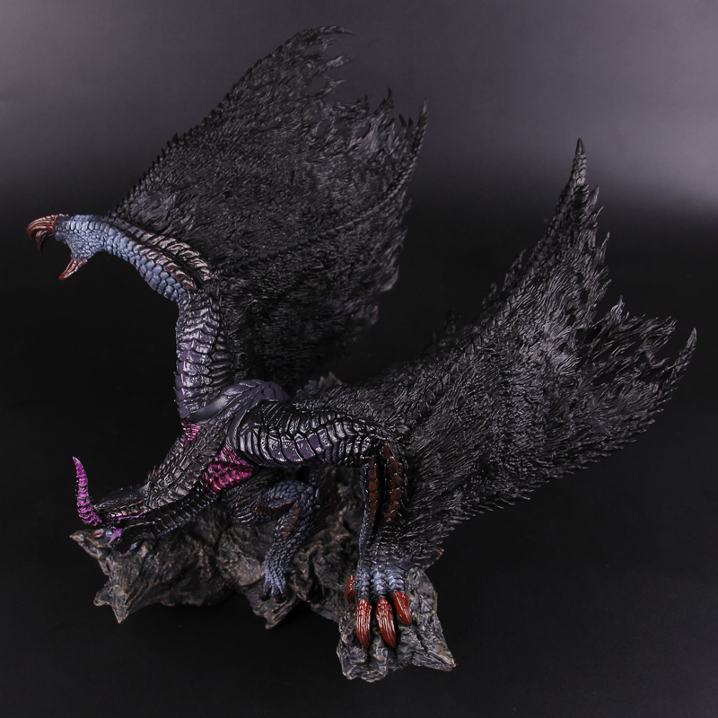 몬스터 헌터 월드 4 블랙 이클립스 드래곤 정품 새로운 일본 정품 액션 피겨 모델 키즈 장난감 선물-에서액션 & 장난감 숫자부터 완구 & 취미 의  그룹 3