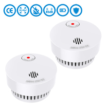 CPVan 2pcs/Lot fire detector Wireless Quality Independent alarm smoke Detector EN14604 CE Certified 10 yr 2019