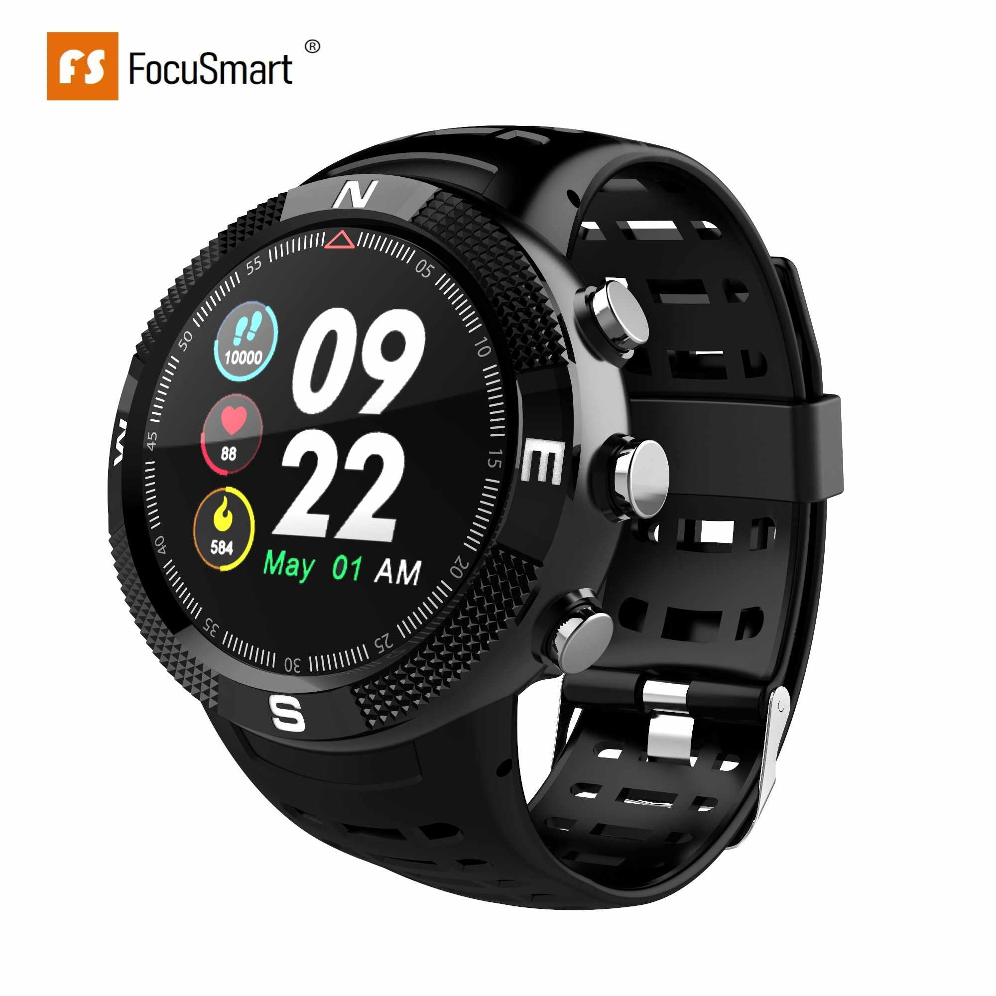 FocusSmart F18 GPS Smart Uhren Blutdruck Herz Rate Monitor Uhren Fitness Tracker IP68 Wasserdicht Kompass Smart Uhr