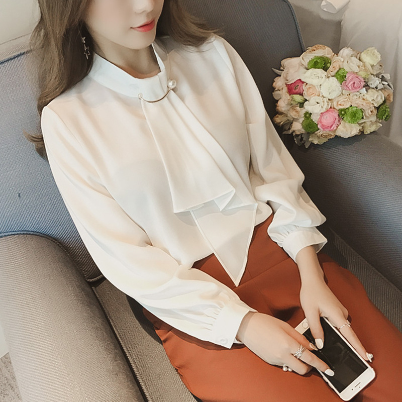 2020 summer long sleeve women's shirt blouse for women blusas womens tops and blouses chiffon shirts ladie's top plus size 10