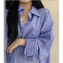 Женские классические рубашки средней длины Осенние минималистичные