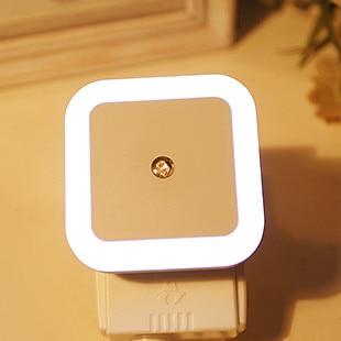 New LED Night Light Mini Light Sensor Control 110V 220V EU US Plug Nightlight Lamp For Children Kid Living Room Bedroom Lighting