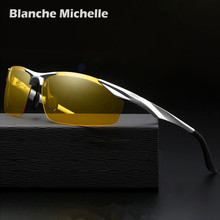 Мужские солнцезащитные очки, поляризованные, алюминий, с футляром, UV400, 2020